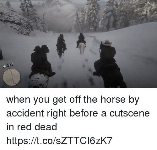 red dead: when you get off the horse by accident right before a cutscene in red dead https://t.co/sZTTCI6zK7