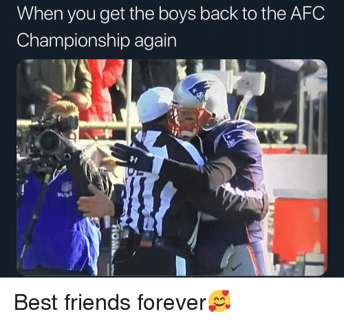 Afc Championship: When you get the boys back to the AFC  Championship again Best friends forever🥰