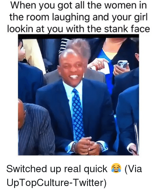 Basketball, Nba, and Sports: When you got all the women in  the room laughing and your girl  lookin at you with the stank face Switched up real quick 😂 (Via UpTopCulture-Twitter)