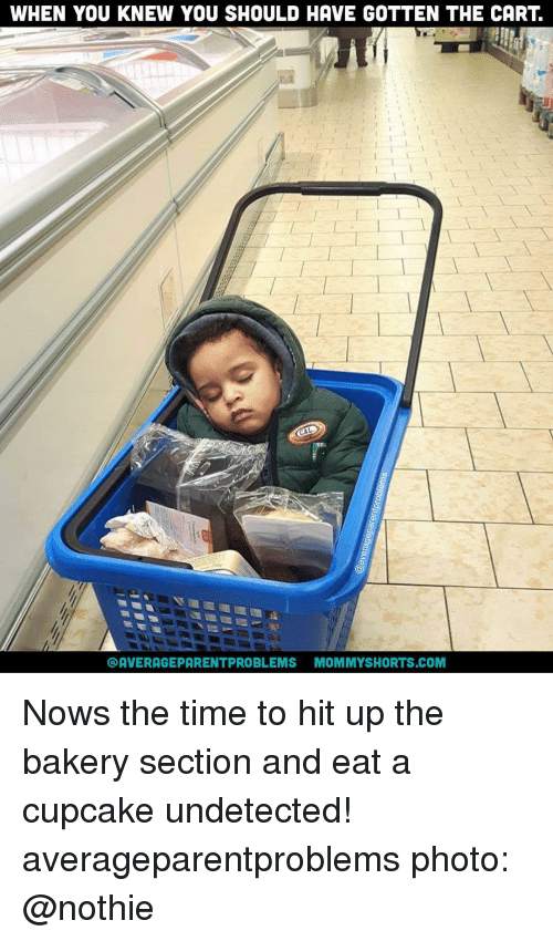 Cupcaking: WHEN YOU KNEW YOU SHOULD HAVE GOTTEN THE CART  AVERAGEPARENTPROBLEMS MOMMYSHORTS.COM Nows the time to hit up the bakery section and eat a cupcake undetected! averageparentproblems photo: @nothie