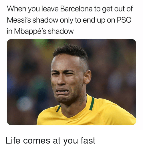 Barcelona, Life, and Soccer: When you leave Barcelona to get out of  Messi's shadow only to end up on PSG  in Mbappé's shadow Life comes at you fast