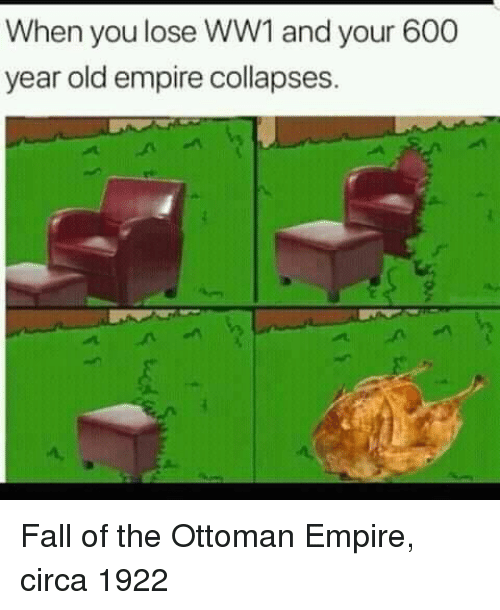 ww1: When you lose WW1 and your 600  year old empire collapses. Fall of the Ottoman Empire, circa 1922