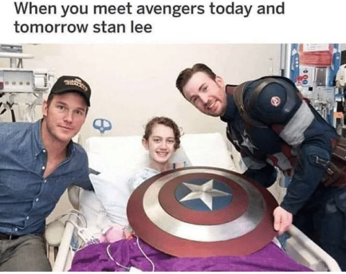 Stan, Stan Lee, and Avengers: When you meet avengers today and  tomorrow stan lee
