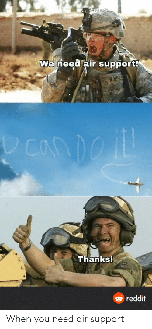 support: When you need air support