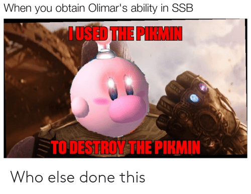 When You Obtain Olimar S Ability In Ssb Used The Pikmin To Destroy