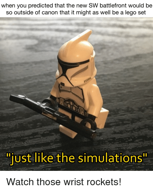 When You Predicted That The New Sw Battlefront Would Be So Outside