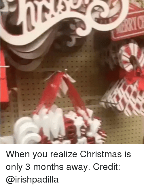 Christmas, Memes, and 🤖: When you realize Christmas is only 3 months away. Credit: @irishpadilla