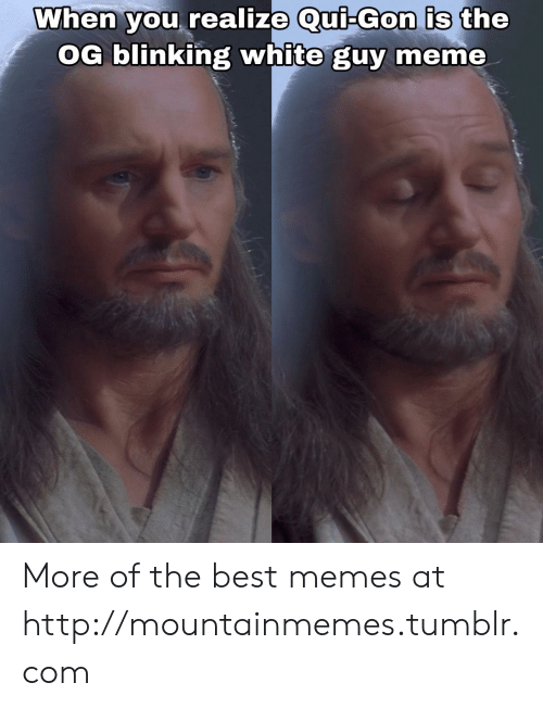 Meme, Memes, and Tumblr: When you realize Qui-Gon is the  OG blinking white guy meme More of the best memes at http://mountainmemes.tumblr.com