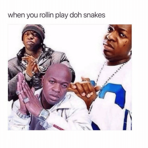 Snakes: when you rollin play doh snakes