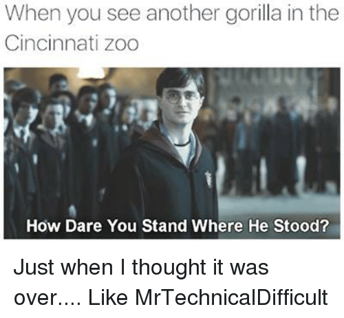 How Dare You Stand Where He Stood