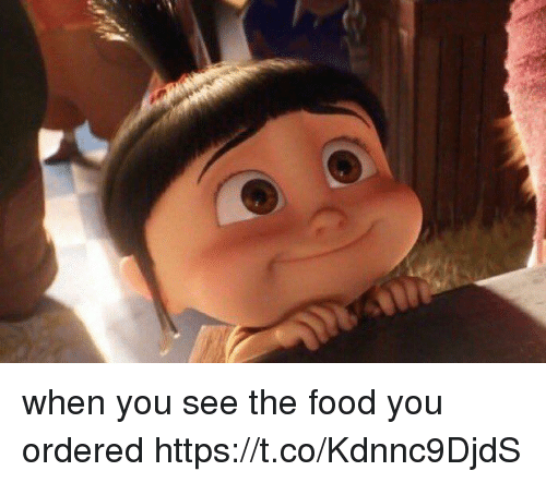 Food, Memes, and 🤖: when you see the food you ordered https://t.co/Kdnnc9DjdS