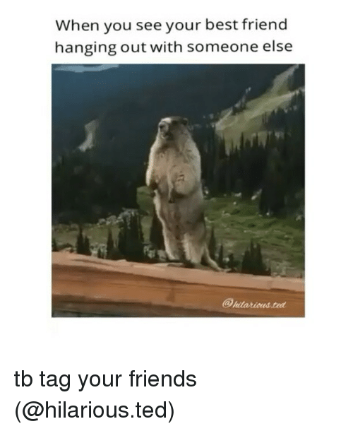 When You See Your Best Friend: When you see your best friend  hanging out with someone else tb tag your friends (@hilarious.ted)