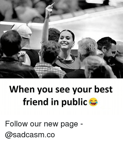 Best Friend, Memes, and Best: When you see your best  friend in public Follow our new page - @sadcasm.co