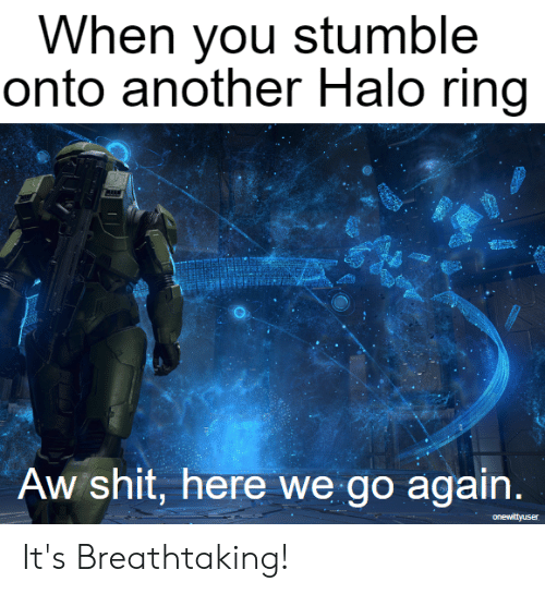 When You Stumble Onto Another Halo Ring Aw Shit Here We Go ...