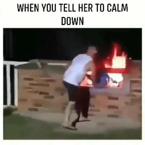 Dank, 🤖, and Her: WHEN YOU TELL HER TO CALM  DOWN