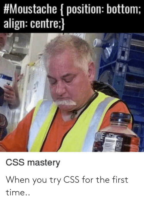 first: When you try CSS for the first time..