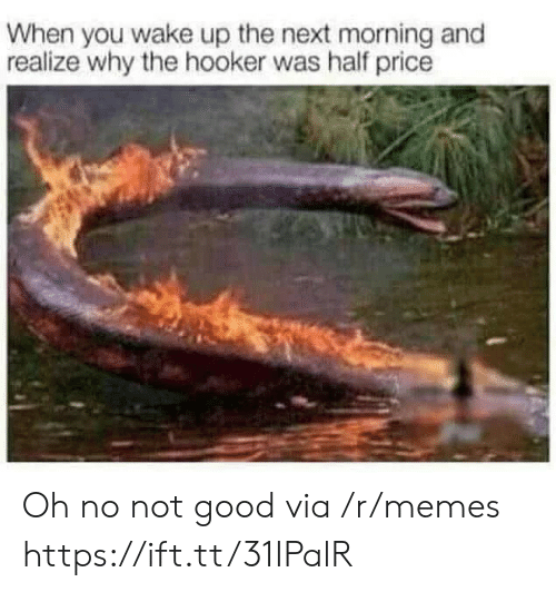 when you wake up: When you wake up the next morning and  realize why the hooker was half price Oh no not good via /r/memes https://ift.tt/31IPalR