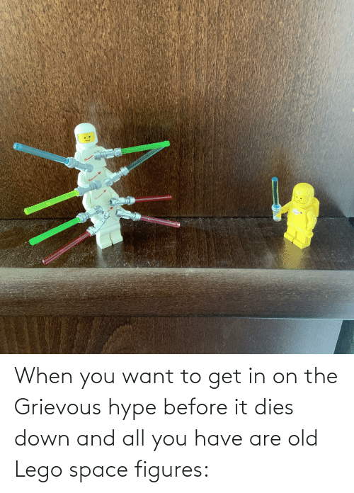 figures: When you want to get in on the Grievous hype before it dies down and all you have are old Lego space figures: