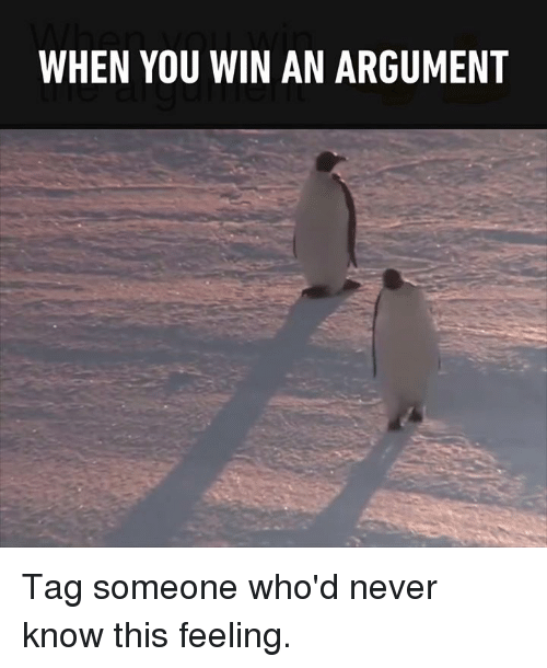 When You Win An Argument