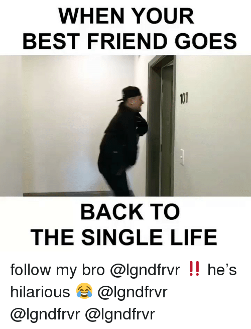 My Bro: WHEN YOUR  BEST FRIEND GOES  BACK TO  THE SINGLE LIFE follow my bro @lgndfrvr ‼️ he's hilarious 😂 @lgndfrvr @lgndfrvr @lgndfrvr