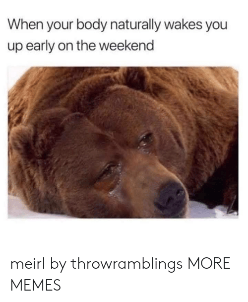 Dank, Memes, and Target: When your body naturally wakes you  up early on the weekend meirl by throwramblings MORE MEMES