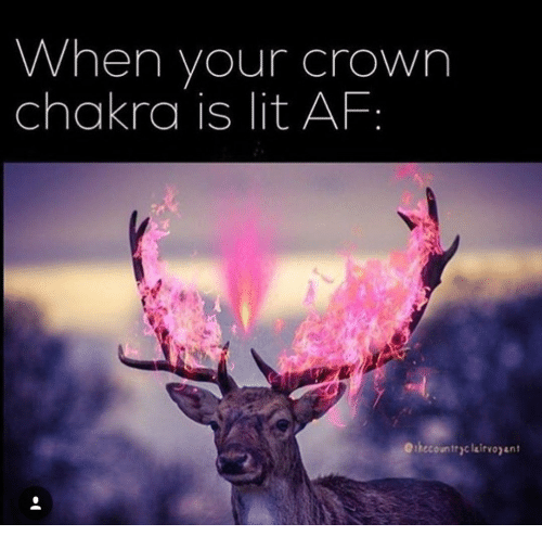 Lit AF: When your crown  chakra is lit AF  Oihecountryclairvojant