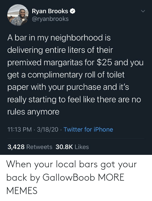 Bars: When your local bars got your back by GallowBoob MORE MEMES