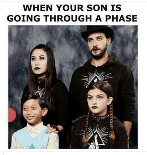 Son, Phase, and Through: WHEN YOUR SON IS  GOING THROUGH A PHASE  dabmoms