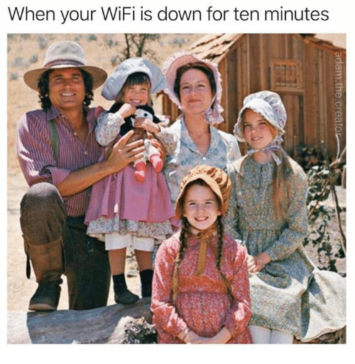 Dank, Wifi, and 🤖: When your WiFi is down for ten minutes
