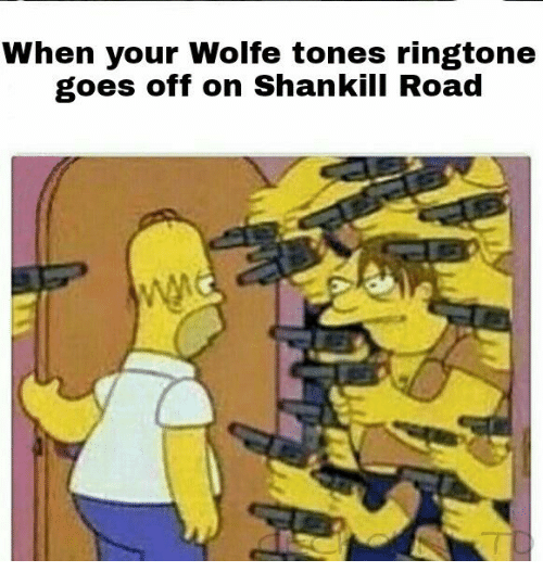 Ringtones: When your Wolfe tones ringtone  goes off on Shankill Road