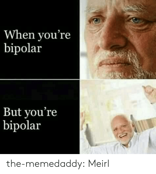 Bipolar: When you're  bipolar  But you're  bipolar the-memedaddy:  Meirl