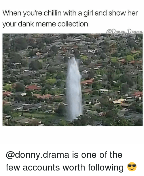 Dank, Meme, and Memes: When you're chillin with a girl and show her  your dank meme collection  annul Drama @donny.drama is one of the few accounts worth following 😎