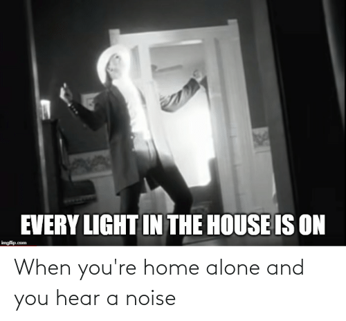 Home Alone: When you're home alone and you hear a noise