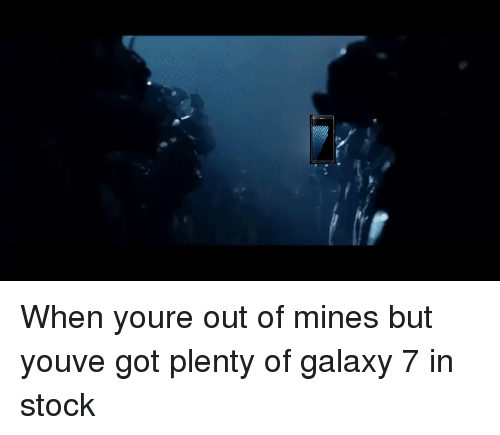saruman: When youre out of mines but youve got plenty of galaxy 7 in stock