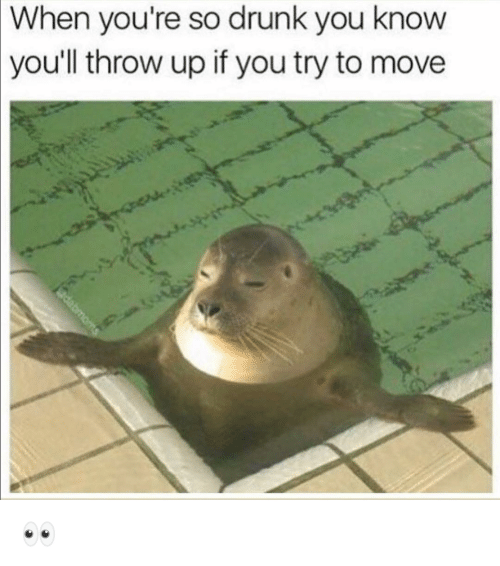 Drunk, Funny, and Throw Up: When  you're so drunk you know  throw up if you try to move  you'll 👀