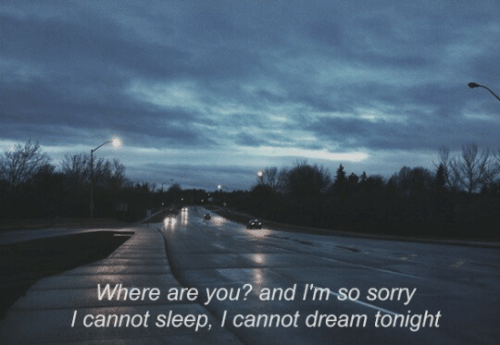 where are you: Where are you? and I'm so sorry  I cannot sleep, I cannot dream tonight