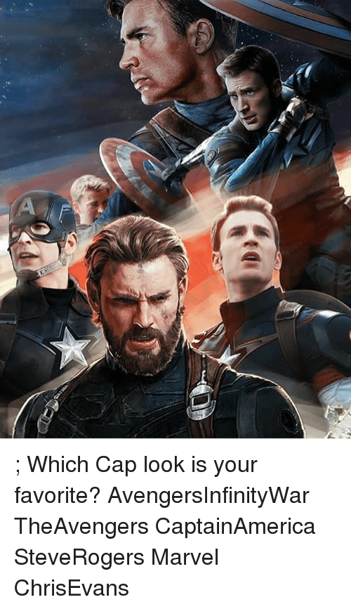 Capping: ; Which Cap look is your favorite? AvengersInfinityWar TheAvengers CaptainAmerica SteveRogers Marvel ChrisEvans