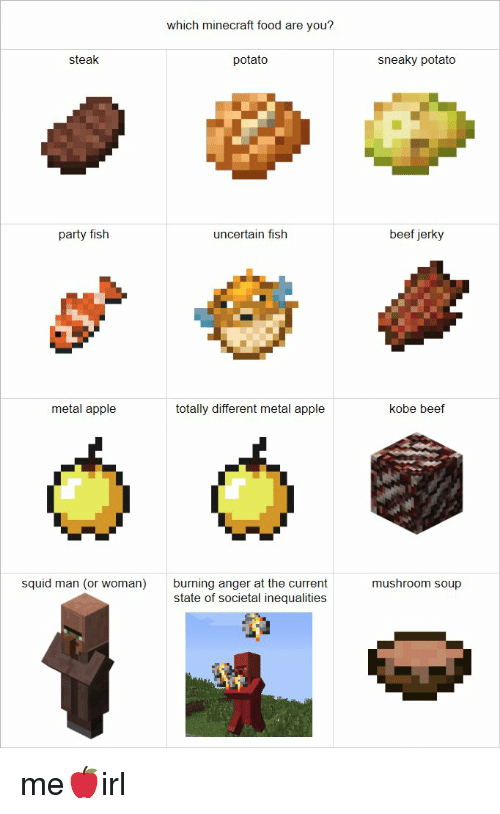 25 Best Memes About Minecraft Food Minecraft Food Memes