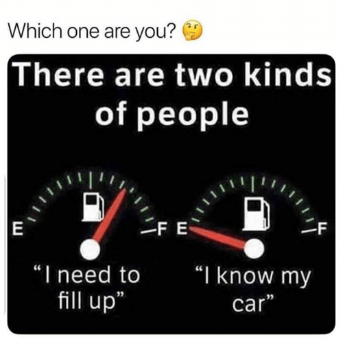 """Car, One, and You: Which one are you?  There are two kinds  of people  FE  