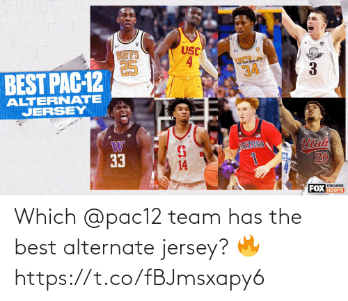 team: Which @pac12 team has the best alternate jersey? 🔥 https://t.co/fBJmsxapy6