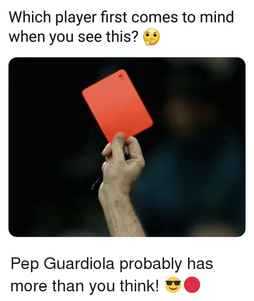 Memes, Mind, and 🤖: Which player first comes to mind  when you see this? Pep Guardiola probably has more than you think! 😎🔴