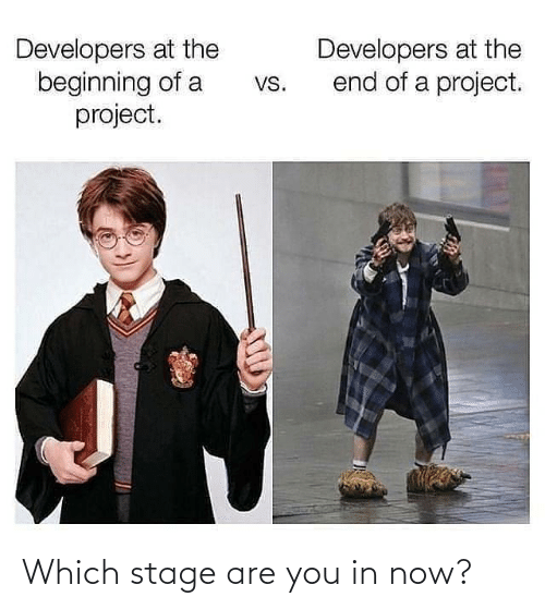 Which: Which stage are you in now?