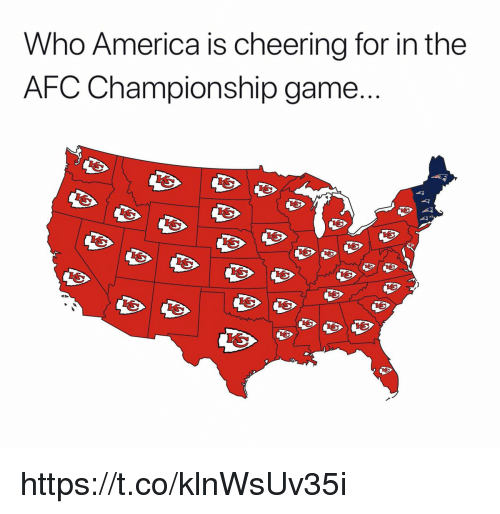 Afc Championship: Who America is cheering for in the  AFC Championship game https://t.co/klnWsUv35i