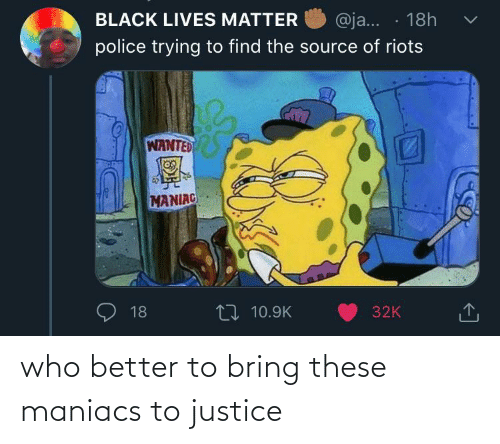 Bring: who better to bring these maniacs to justice