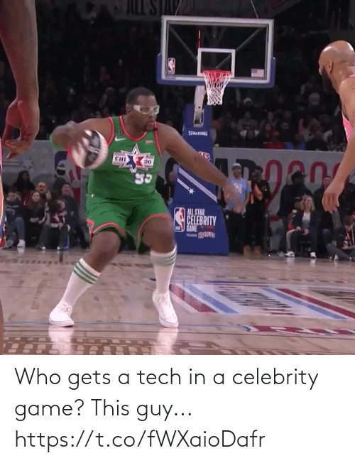 Tech: Who gets a tech in a celebrity game?  This guy... https://t.co/fWXaioDafr