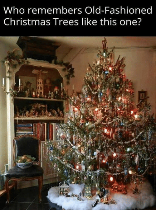 christmas trees: Who remembers Old-Fashioned  Christmas Trees like this one?