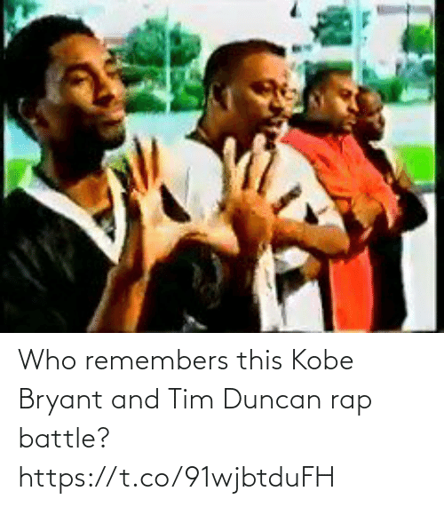 battle: Who remembers this Kobe Bryant and Tim Duncan rap battle? https://t.co/91wjbtduFH