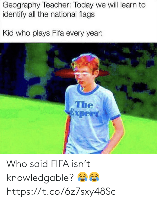 fifa: Who said FIFA isn't knowledgable? 😂😂 https://t.co/6z7sxy48Sc