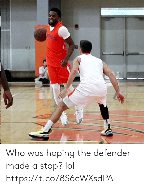 defender: Who was hoping the defender made a stop? lol https://t.co/8S6cWXsdPA