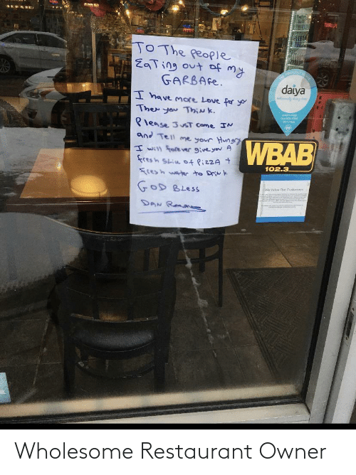 Wholesome: Wholesome Restaurant Owner